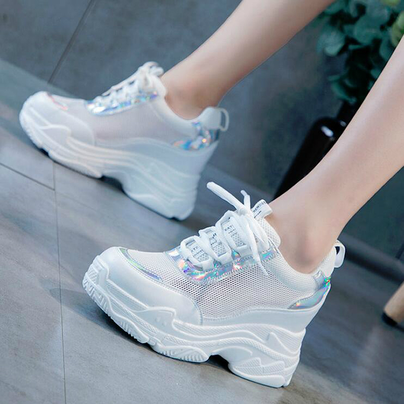 WGZNYN NEW Height Increasing Designer Casual Sock Shoes Woman High Top Sneakers Women Platform Shoes Letter Female Flats W209