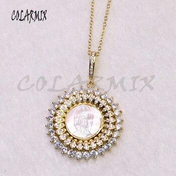 cd42bd5bb8a9 5 hilos Madonna colgantes collar barroco zircon colgante collar de joyería de  moda al por mayor regalo de la joyería para las mujeres de gemas 5235