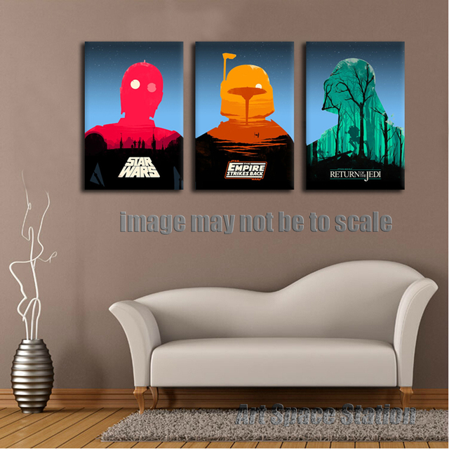 Star Wars Living Room Art: Star Wars Empire Movie Poster Modern Abstract Canvas PRINT