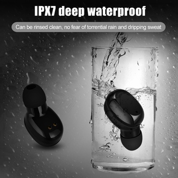 TWS Bluetooth5.0 Wireless earphone Mini 3D Stereo Sport IPX7 Waterproof Headset with Mic for Xiaomi for iphone for Samsung monochrome