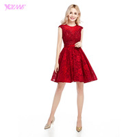 Elegant Light Wine Red Lace Short Homecoming Party Dresses Graduation Dress Mini Lace Up