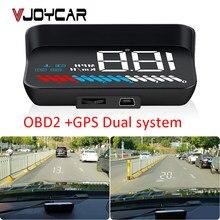Pantalla OBD GPS Hud para coche, velocímetro M7, proyector de parabrisas OBD M8, proyección Digital de velocidad con soporte para parasol