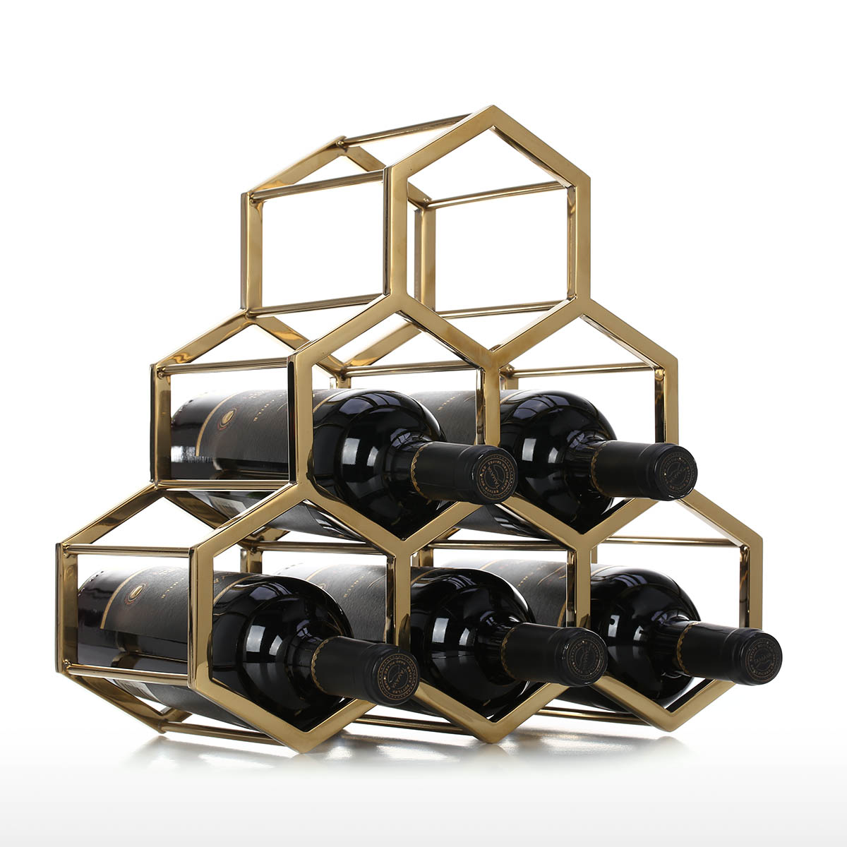 Modern Grapevine Design Black Freestanding Metal 12 Bottle Wine Storage Shelf Rack 3 Tier Wine Holder Wine Racks Cabinets Freestanding Wine Racks Cabinets