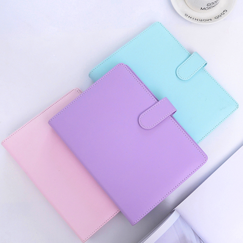 Kawaii Macaron Leather Notebook Weekly Daily Planner Gift School Office Supplies Student Stationery Notepad High Quality A5 A6Kawaii Macaron Leather Notebook Weekly Daily Planner Gift School Office Supplies Student Stationery Notepad High Quality A5 A6