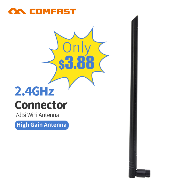 Cheap ! Wifi Antenna 2.4Ghz Sma Male Connector High Gain 7dbi wi-fi Antenne for Wireless Router card adapter