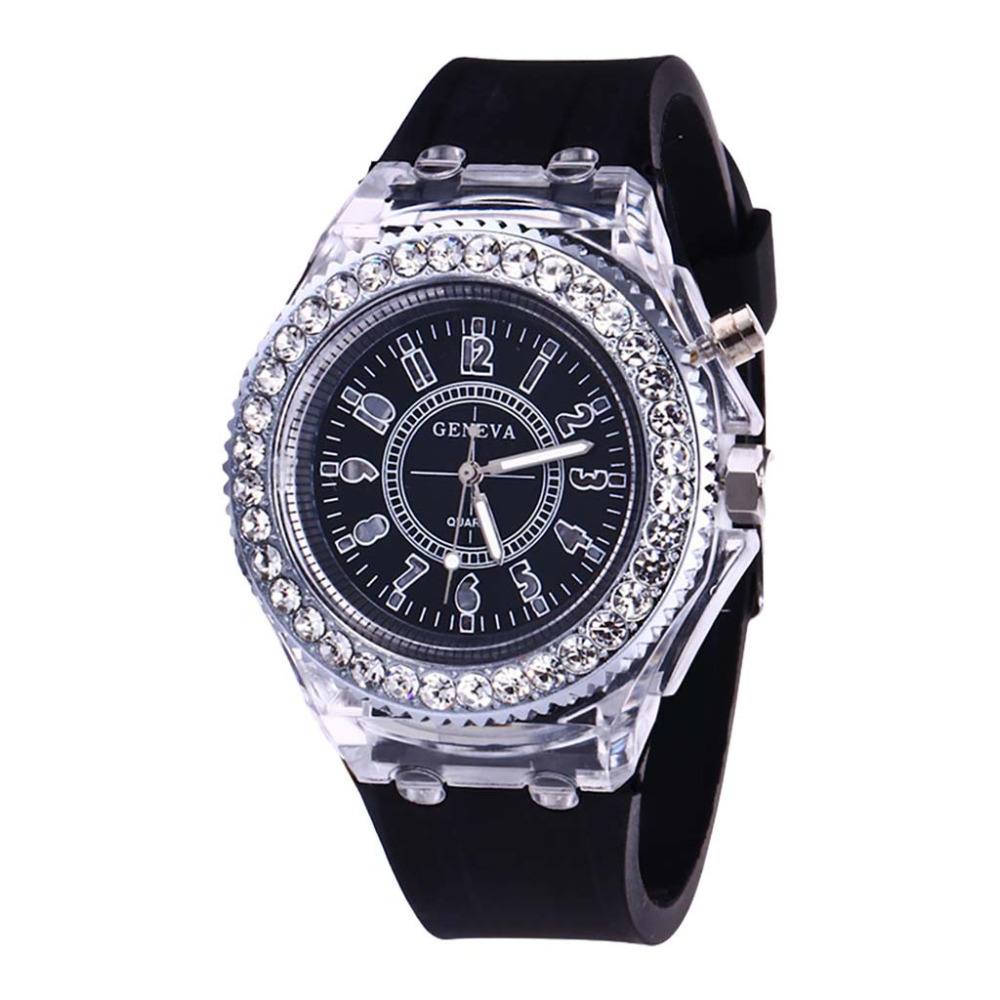 Women Clock Rhinestone Dress Watch Woman Fashion Quartz Luminous Ladies Watch Silicone Double Scale Dial Sports Watch Relogio *AWomen Clock Rhinestone Dress Watch Woman Fashion Quartz Luminous Ladies Watch Silicone Double Scale Dial Sports Watch Relogio *A