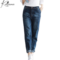 2018 Winter Vintage Ladies Jeans Woman Plus Size 4XL Boyfriend Jeans For Women Female High Waist Pants Denim Mom Jeans Trousers