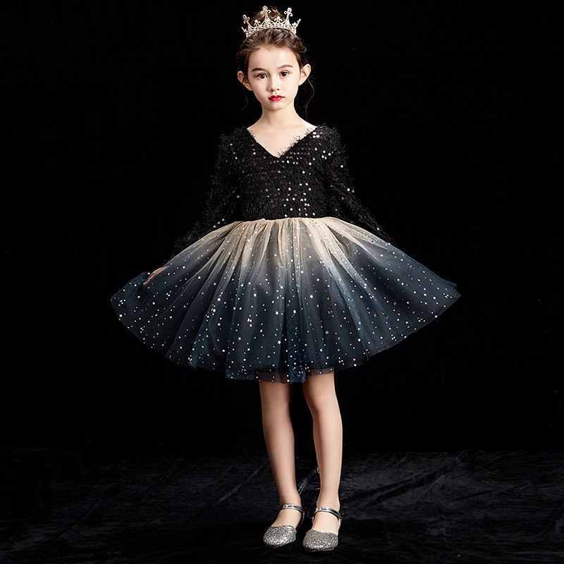 2019 New Children Girl Mesh Sequin Tutu Princess Dress Kids Dresses For Girls Dance Wedding Party Baby Girl Clothes Vestido L3842019 New Children Girl Mesh Sequin Tutu Princess Dress Kids Dresses For Girls Dance Wedding Party Baby Girl Clothes Vestido L384