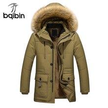 2017 New Winter Parkas Long Thick Warm Cotton Coat Men Casual Outwear Jacket Hooded Fleece Men Plus Size M-5XL Coat Man