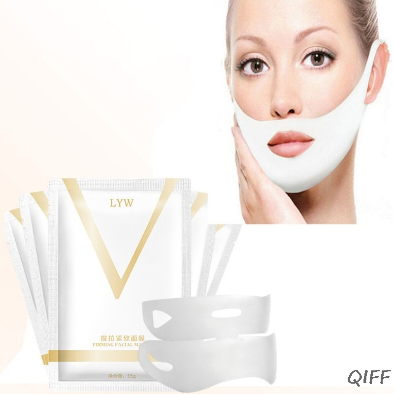 Women 4D Double Chin V Face Tension Firming Mask Slimming Eliminate Edema Lifting Gel Patch Anti Wrinkle Beauty Skin Care Too(China)