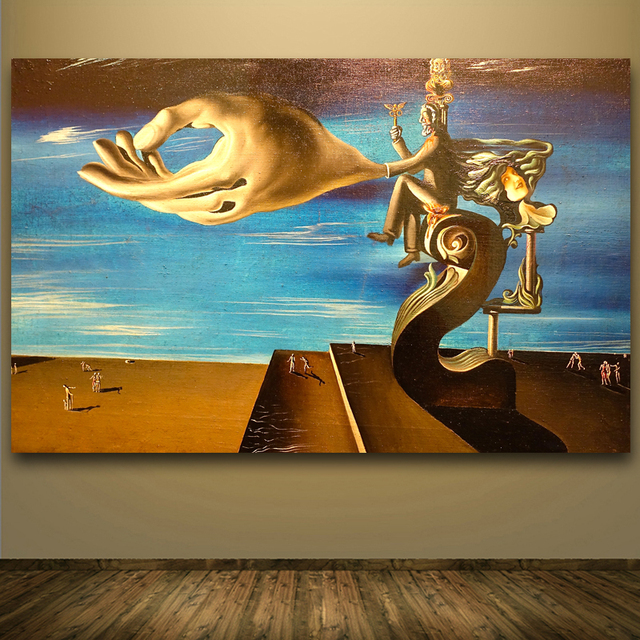 rahmenlose printed malerei abstrakte st petersberg von salvador dali kunst druck wand plakat. Black Bedroom Furniture Sets. Home Design Ideas