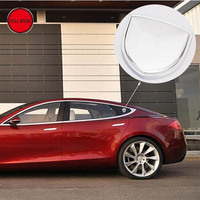 1 Pair Car Body Side Window Pillar Emblem 3D Sticker Decor For Tesla Model S Model