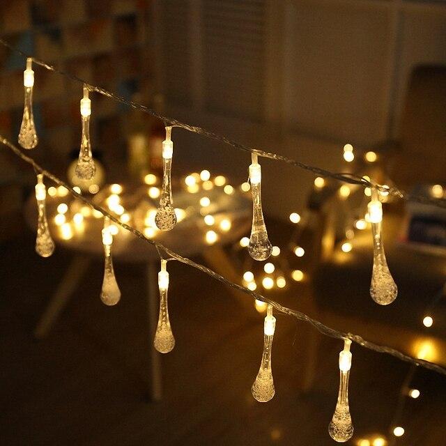 Exceptionnel Outdoor Backyard Waterproof Glitter Starry Led String Lights Mini Bottle  Water Drop Bulbs Garland Chain Wedding