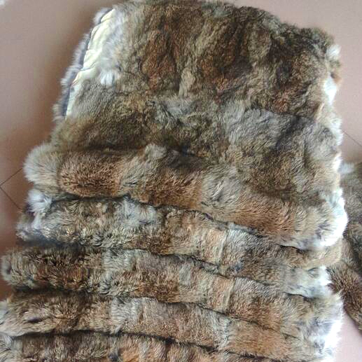Natural Genuine Color Rabbit Fur Skin Pelt Rug Blanket For Home Textile Like Chairs Soft And Light Entertainment Memorabilia
