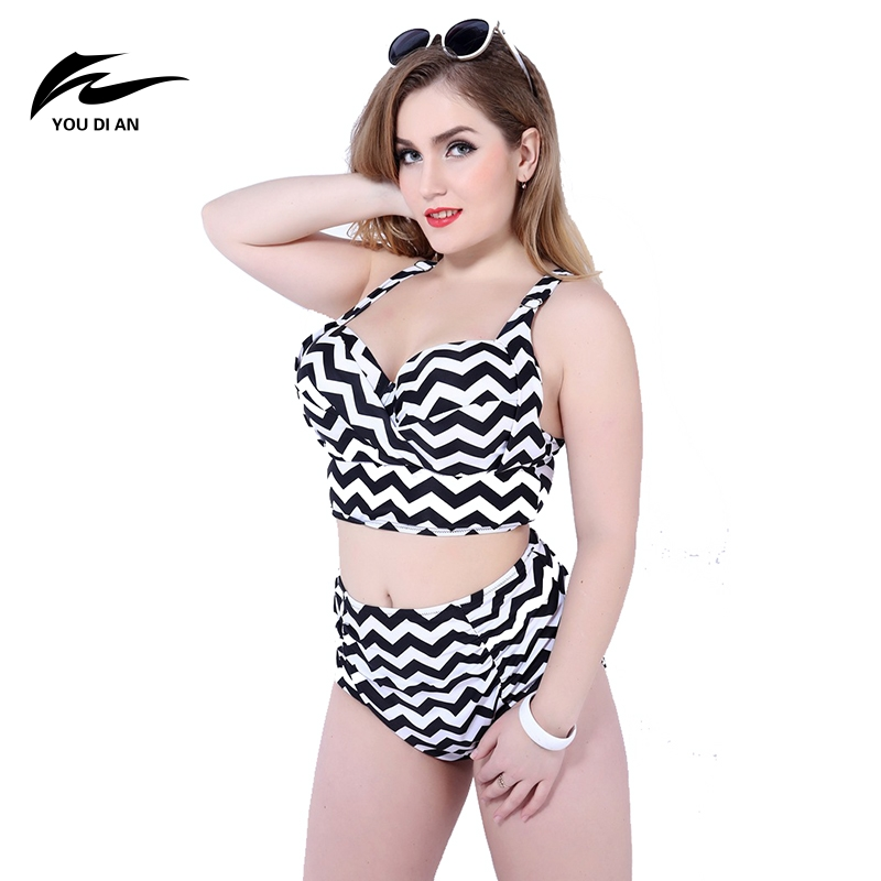 ФОТО Womens Sexy One Pieces Suit Conservative Was Thin Sexy Large Code Swimsuit Women's Swimwear Plus Size High Waist Bikini Sets