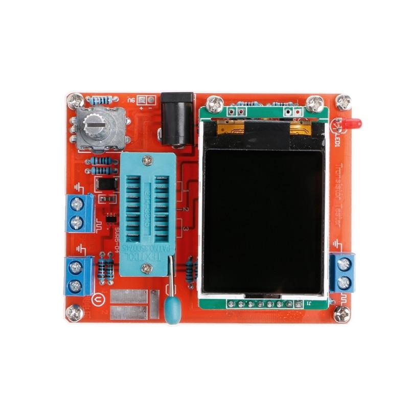 NEW M328 DIY Transistor Tester LCR Diode Capacitance ESR Meter PWM Signal Generator H15 graphics version of the transistor tester lcr two or three tube line pwm esr fang bo signal diy suite
