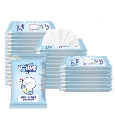 50pcs=5bags Wet Wipes Non-woven Wipes Easy To Carry