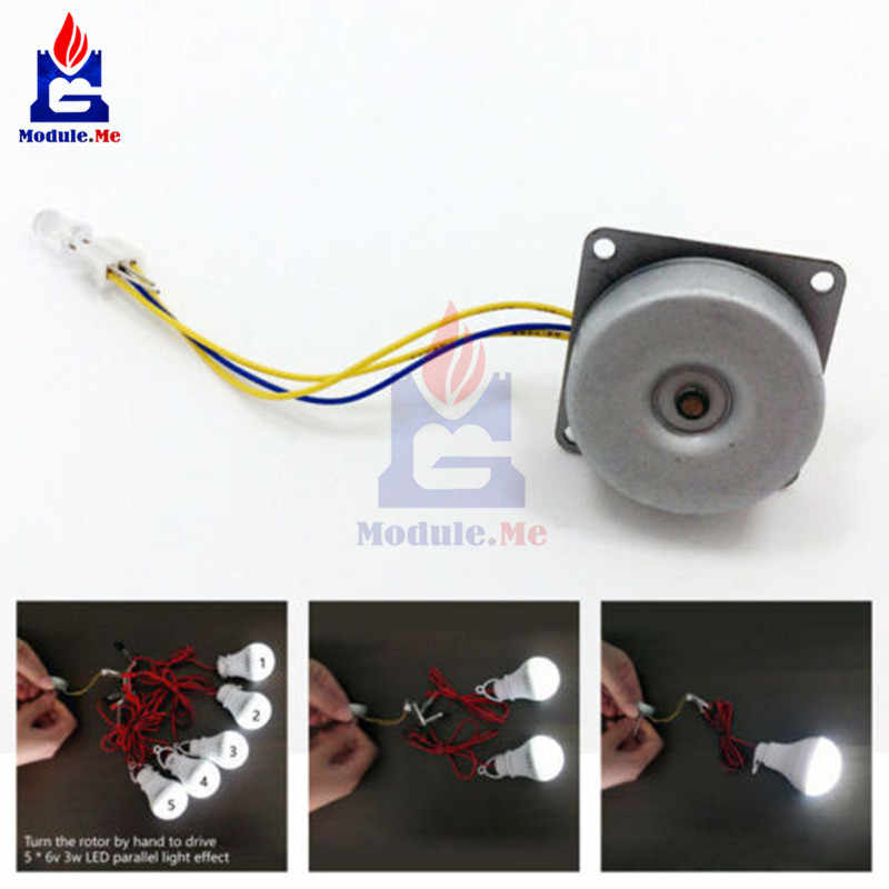 3 Phase Micro Brushless Mini Angin Tangan Generator DIY Motor 3-24 V AC