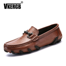 Italian Men Luxury Shoes luxury Brand Genuine Leather Moccasin Boat Walking Shoe Lace Flat Casual Driving