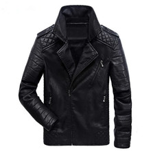 New men's leather jackets and Europe and the Americas leisure motorcycle leather jacket men coat clothes large size