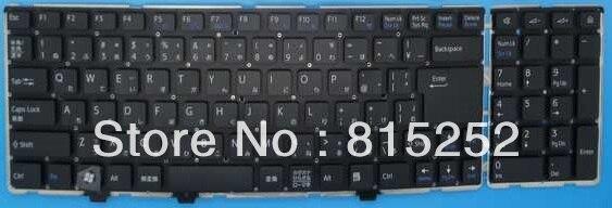 Laptop Keyboard For SONY VPC-EA vpcea BLACK (Without Frame) JP-japanese laptop keyboard for sony svf13n black without frame sk slovakian 9z nabbq 209