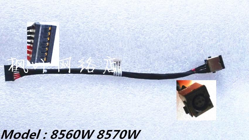 New Laptop For HP EliteBook 8560W 8570W DC Jack Cable Charging Port ноутбук hp elitebook 820 g4 z2v85ea z2v85ea