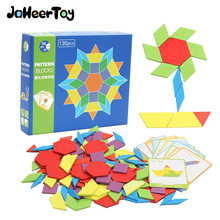 JaheerToy Tangram Jigsaw Board Wood Puzzle Creative Fun Toys for Children Montessori Early Education Shape Color Classification