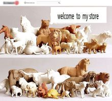 pvc figure Genuine simulation model toy white animals for DIY 2500G