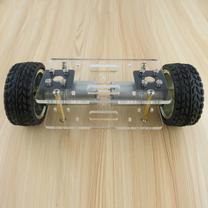 Image 1 - 2WD DIY Robot Kit Acrylic Plate Car Chassis Frame Self balancing Mini Two drive 2 Wheels 176*65mm Technology Invention Toys