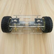 2WD DIY หุ่นยนต์ชุดแผ่นอะคริลิครถแชสซีกรอบ Self Balancing MINI 2 ไดรฟ์ 2 ล้อ 176*65 มม.เทคโนโลยีของเล่นประดิษฐ์