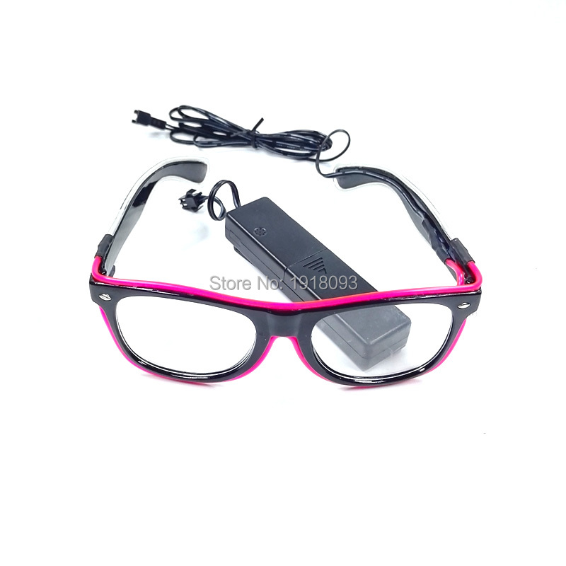 High Grade EL Product EL Wire Glowing Glasses with DC 3V Sound activated 20pieces Novelty Lighting Glasses Party Favors