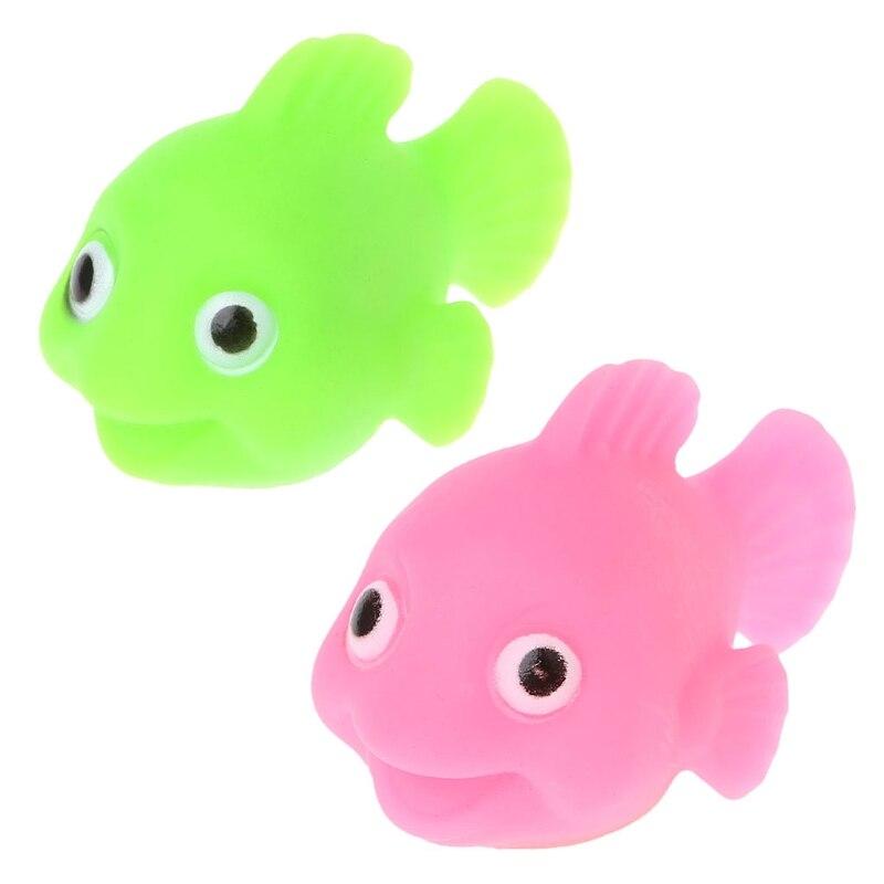 HBB 3D LED Light Goldfish Kids Toys Water Sensor Induction Bathing Bathtub Floating Toy