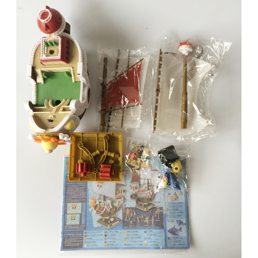 Big Anime Figure ONE PIECE Ship Thousand Sunny Going Merry Pirate Boat Puzzle Assemble Model Toy Building Blocks 2