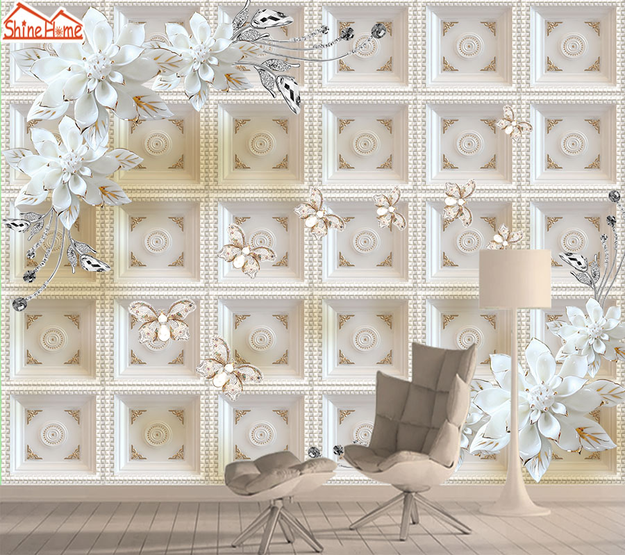 Contact Wall Paper Papers Home Decor 3d Mural Wallpaper Wallpapers For Living Room Self Adhesive Murals Walls Soft Rolls Floral