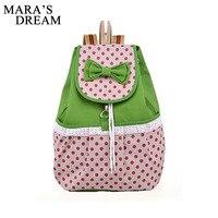 Mara S Dream Women Backpack Canvas Dotting Backpacks Girls School Bag Bookbags Bags For Teenage Girls