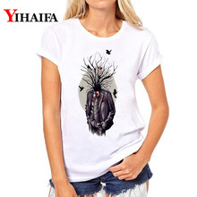 Women T-shirt Summer Creative Tree Graphic 3D Print T Shirt Lady Casual Plus Size Harajuku White T-shirts Tops цена