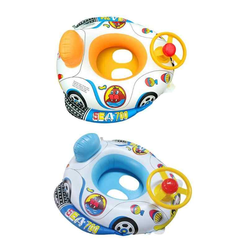 Baby Inflatable Pool Float Swimming Ring Portable Baby Swim Circle Inflatable Safety Swimming Ring Float Seat Water Pool Toys
