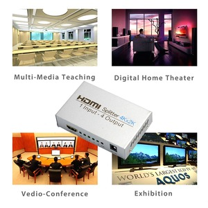 Image 5 - AIXXCO HDCP 4k مقسم الوصلات البينية متعددة الوسائط وعالية الوضوح (HDMI) كامل HD 1080p فيديو HDMI التبديل الجلاد 1X2 1X4 سبليت 1 في 2 خارج مكبر للصوت عرض ل HDTV DVD