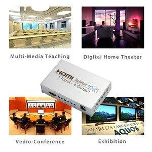 Image 5 - AIXXCO HDCP 4k rozdzielacz HDMI Full HD wideo 1080p przełącznik HDMI przełącznik 1X2 1X4 podzielić 1 w 2 na zewnątrz wzmacniacz wyświetlacz do telewizora HDTV DVD