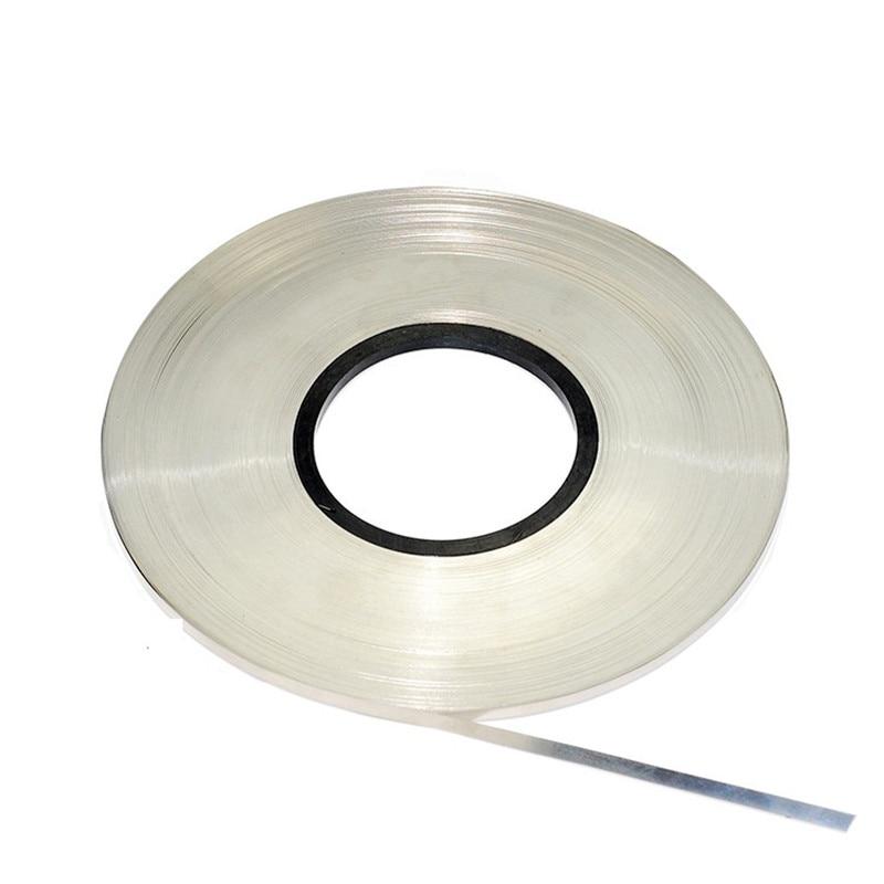 Купить с кэшбэком 1kg/roll spot welding Nickel Plated Steel Strap Strip Sheets 18650 battery spot welder Battery connecting piece welding machine