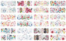 BN805-816 Nail Art Water Transfer Stickers Full Wraps Flower Sticker  (12 DESIGNS IN 1) ongles decoration nail art