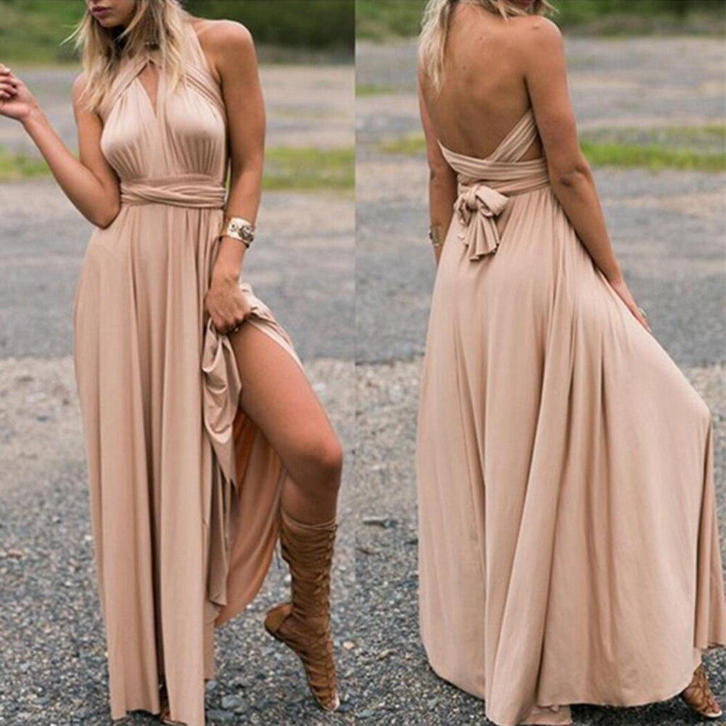 Сексуальное длинное Бандажное платье для женщин, многослойное, с обёртостями, в стиле бохо, макси, Клубное, красное платье, вечерние платья п...