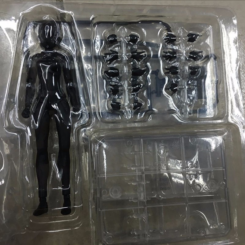 6 Types Body KUN Body Chan SHFiguarts PVC Action Figure DX SET Figma He She Solid Black Pale Orange Gray Ver In Box  (4)