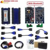 NEXIQ 2 USB Link Diesel Truck Diagnostic Tool NEXIQ2 With Bluetooth With Plastic Box for Heavy Duty Truck NEXIQ 2 +Software DHL