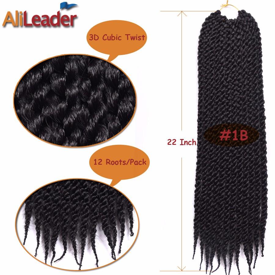 Afri Naptural 3D Tm Giro Cúbico Crochet Trenzas Peinados 22 ...