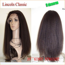 Lincoln Kinky Straight Full Lace Wig Glueless brazilian Human Hair Full Lace Wig virgin hair With Baby Hair For Black Women