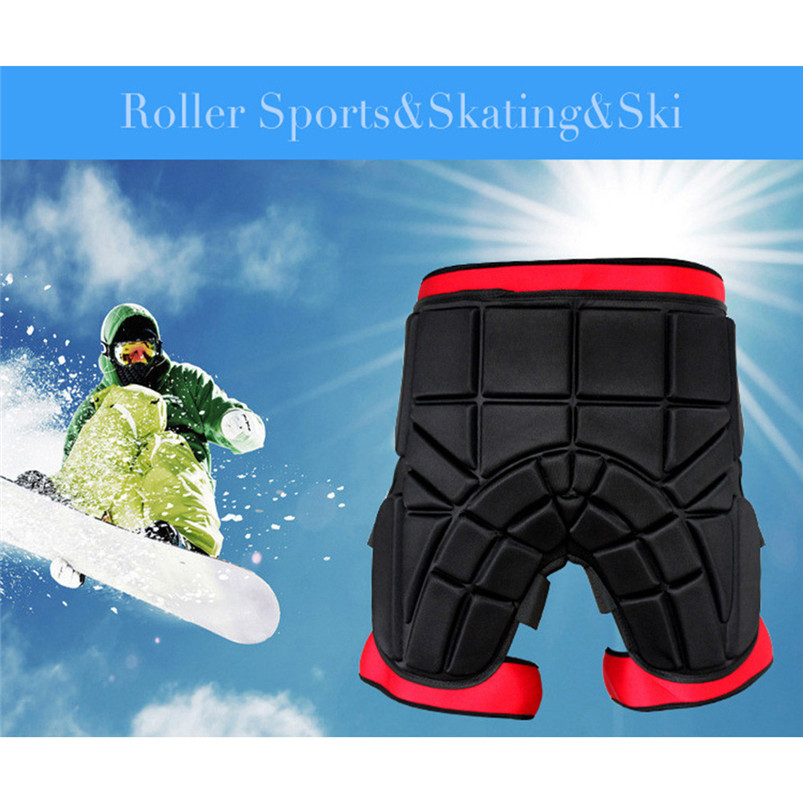 Men women Outdoor Sports Safety Black Protective Hip Padded Shorts Snowboard Skiing Skating Impact Protection #4S26 (5)