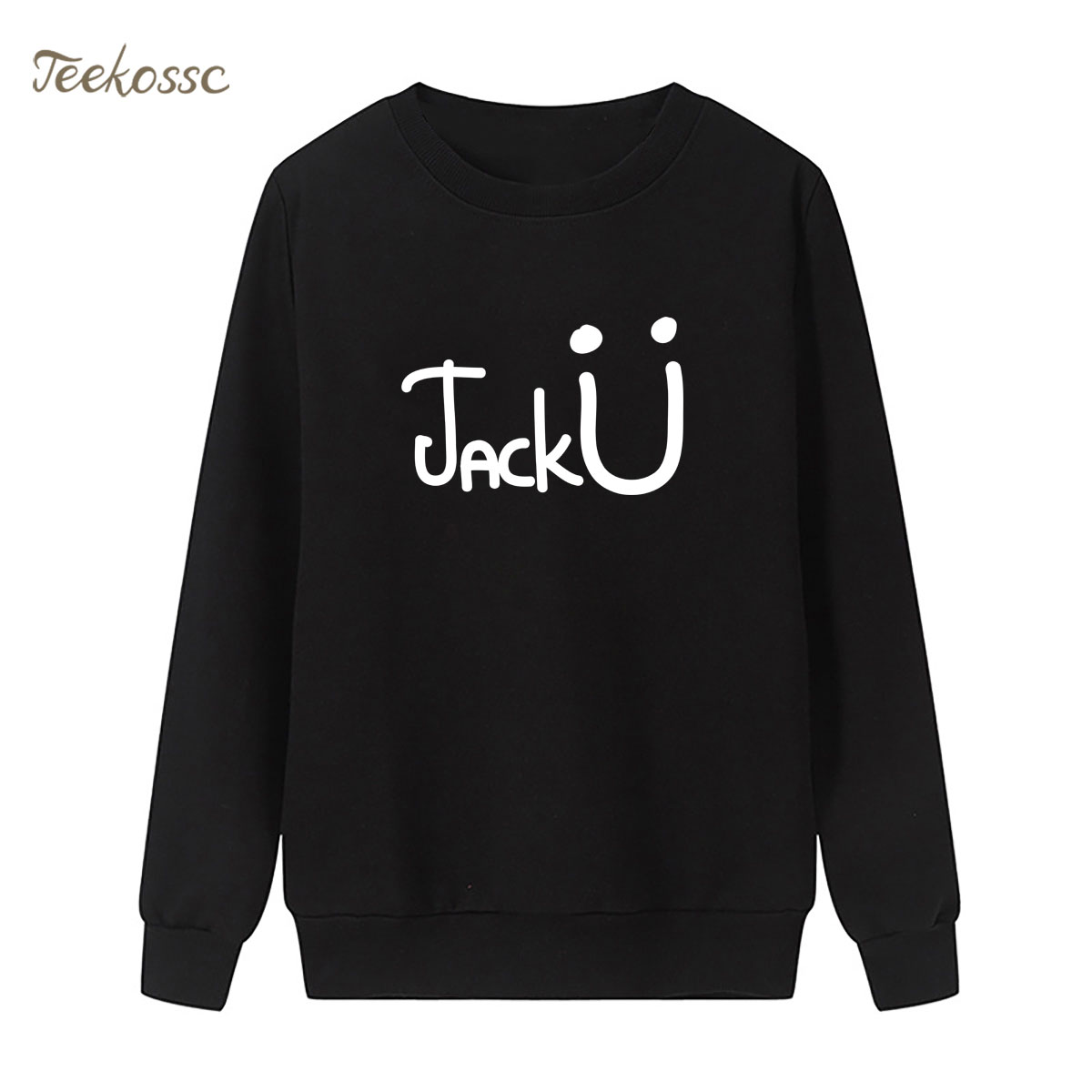 Jack U Sweatshirt Cute Hoodie 2018 Winter Autumn Women Lasdies Pullover Fleece Black White Streetwear Hipster Brand Clothing