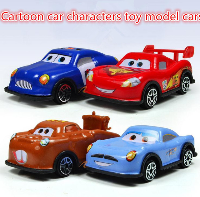 Hot Sale Free Shipping Alloy Slide Cartoon Car Characters Toy