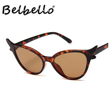 Belbello Cat Eyes Sunglasses Men Global Popular Leopard Print Women Ordinary Fashion Lovers
